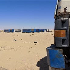 No man's land between Mauritania and Western Sahara